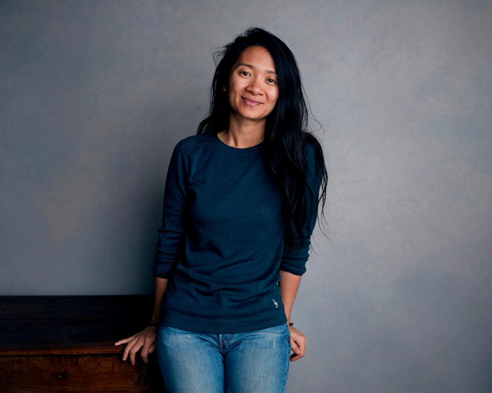 """Chloé Zhao posing for a portrait during the 2018 Sundance Film Festival. The """"Nomadland"""" filmmaker is nominated for the best director Oscar this year."""