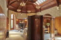 """<p><span>Right on the edge of the Snowdonia National Park, this luxury hotel has played host to Queen Victoria and Winston Churchill. And it's a right Royal welcome that you'll get if you book one of its Superior Suites, which cost from </span><b>£590</b><span>. That will buy you one night in the <a href=""""http://www.palehall.co.uk/churchill-room/"""" rel=""""nofollow noopener"""" target=""""_blank"""" data-ylk=""""slk:Churchill Suite"""" class=""""link rapid-noclick-resp"""">Churchill Suite </a>with its magnificent vaulted ceiling, stained glass roof lights and wood panelled walls. A secret door leads to the marble-lined bathroom where you can unwind in a copper and zinc bath. [Photo: Palé Hall]</span> </p>"""