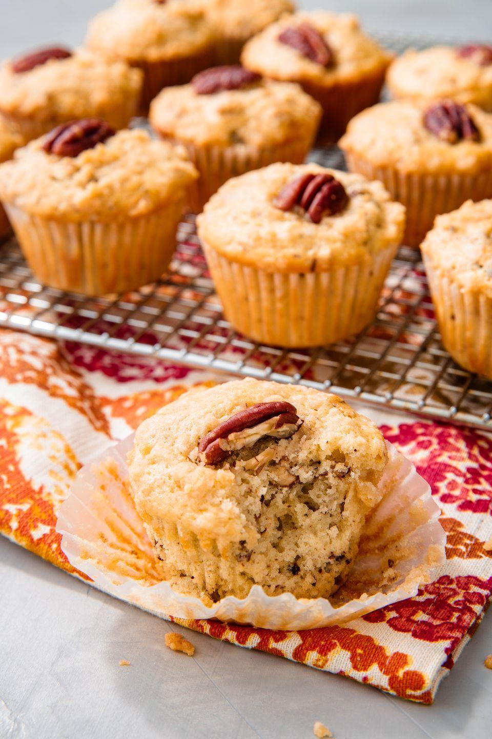"<p>The PERFECT fall breakfast.</p><p>Get the recipe from <a href=""https://www.delish.com/holiday-recipes/thanksgiving/a23012784/pecan-pie-muffins-recipe/"" rel=""nofollow noopener"" target=""_blank"" data-ylk=""slk:Delish"" class=""link rapid-noclick-resp"">Delish</a>.</p>"