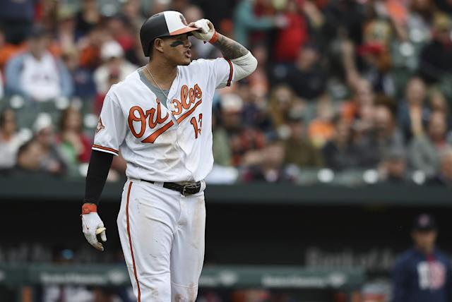 Manny Machado, the soon-to-be $300 million-plus man, found himself in the middle of bad blood between the Red Sox and Orioles. (AP)
