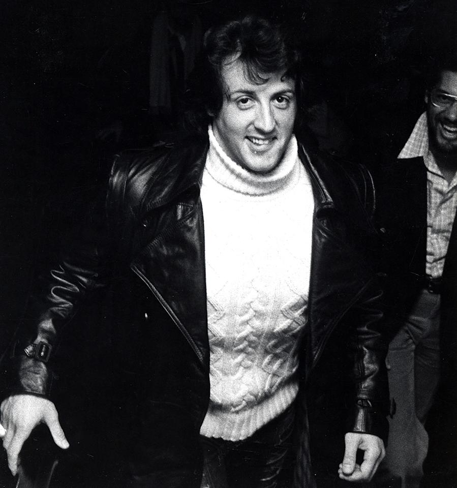 <p>The 30 year old actor struck gold with his starring role as boxer Rocky Balboa, in the film <i>Rocky</i>, which he also wrote. Here he is arriving to the New York premiere on November 20, 1976. (Photo: Ron Galella/WireImage)</p>