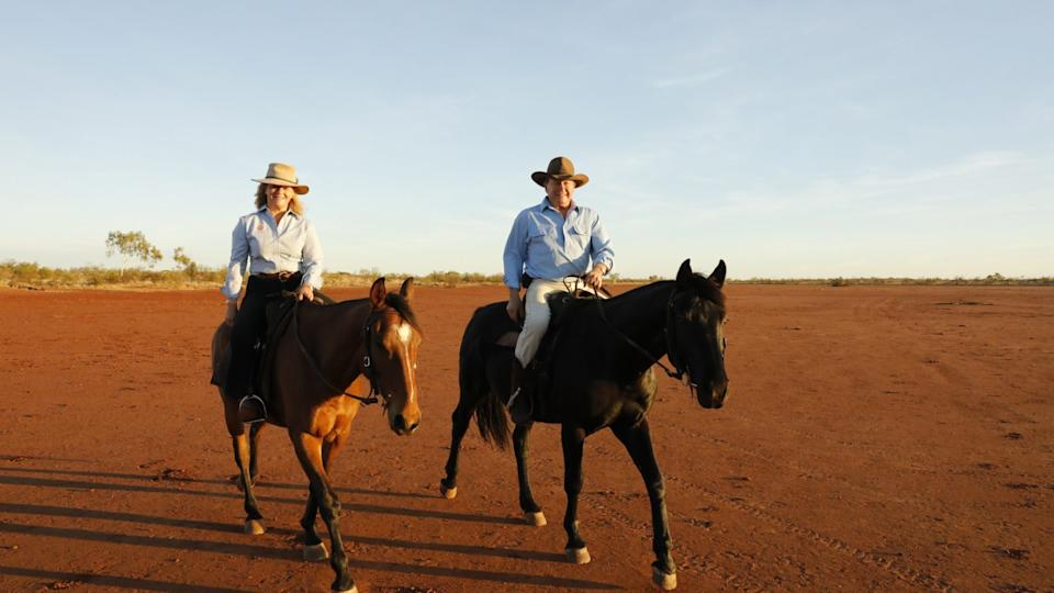 Nicola and Andrew Forrest. Image: Hugh Brown.