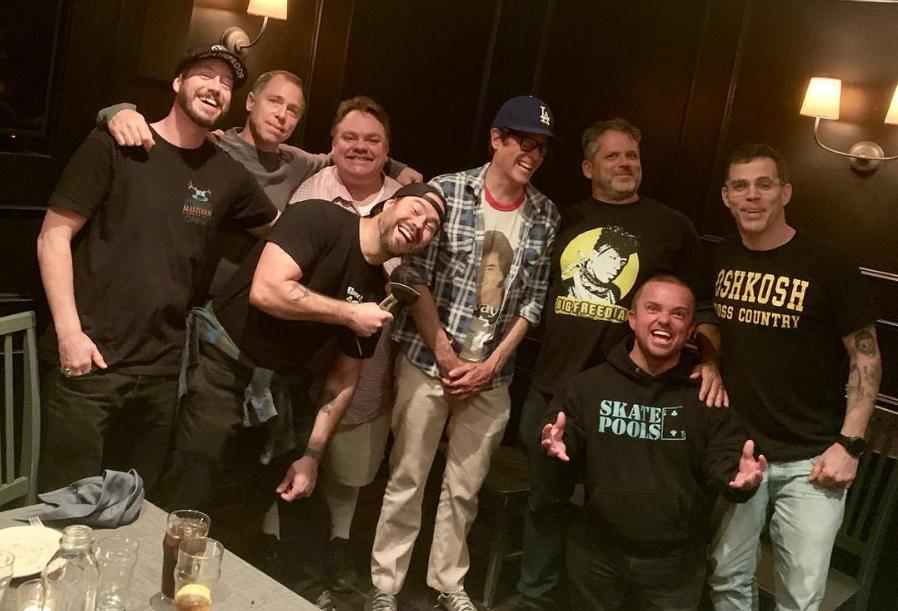 Johnny Knoxville and the cast of 'Jackass' reunite for dinner, sparking rumours of a new movie. (Credit: Johnny Knoxville/Instagram)