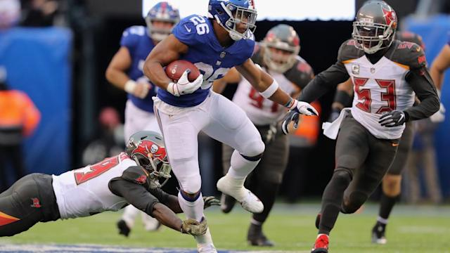 Saquon Barkley fed on top rushing defenses last year, which is bad news for the Bucs