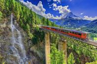 "<p>It links the Italian lakes to the Swiss Alps and the wonderful Centovalli Railway is one of the great train journeys of Europe. Officially known as the Domodossola–Locarno Railway, it dates back to 1923 and only takes two hours to travel the whole way across from one country to the next.</p><p>Along this delightful route, there's romantic countryside, 100 passing valleys and lush waterfalls to look out for.</p><p><strong>Ride the Centovalli Railway during Good Housekeeping's eight-day Italian lakes tour with Adam Frost in October 2021, from £1,459 per person.</strong> </p><p><a class=""link rapid-noclick-resp"" href=""https://www.goodhousekeepingholidays.com/tours/italy-lake-maggiore-tour-adam-frost"" rel=""nofollow noopener"" target=""_blank"" data-ylk=""slk:FIND OUT MORE"">FIND OUT MORE</a></p>"