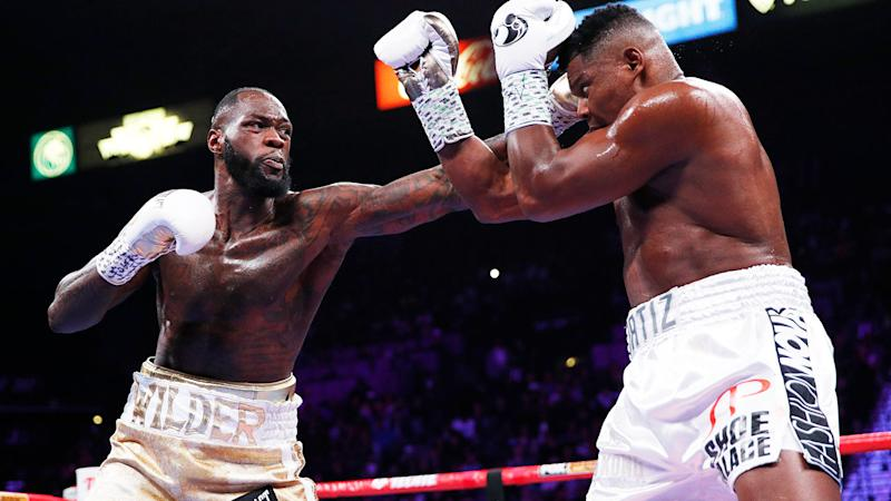 Deontay Wilder beat Luis Ortiz for the second time after a vicious KO in round seven.