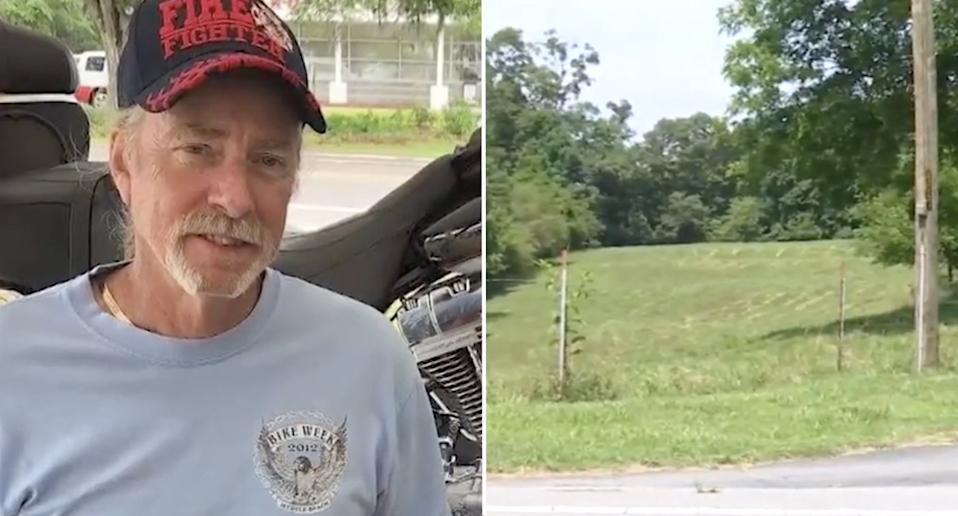 Danny Andrew Smith was shot and killed as he rode his tractor.