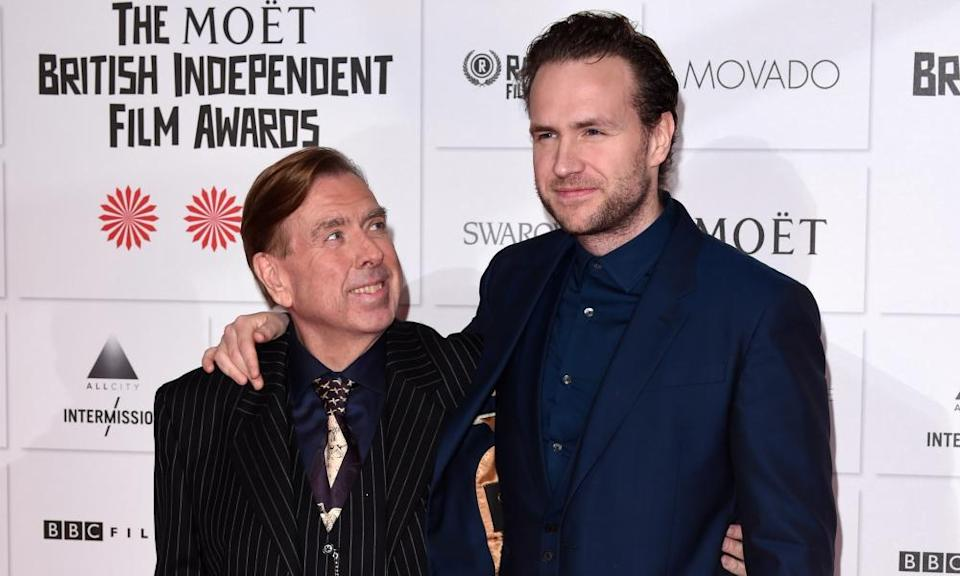 Rafe Spall and his dad Timothy at the British Independent Film Awards