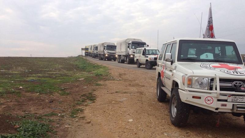 Aid Convoy Arrives in Besieged Syrian Town After Weeks of Widespread Starvation