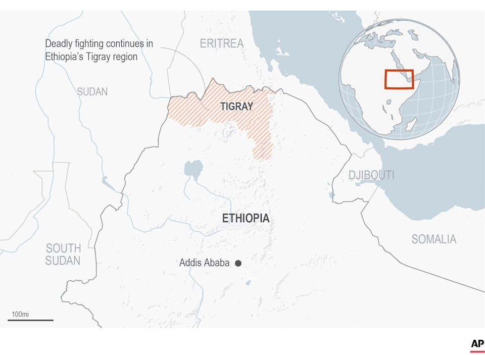 <p>Tigray is located in the north of Ethiopia and borders Sudan</p>AP