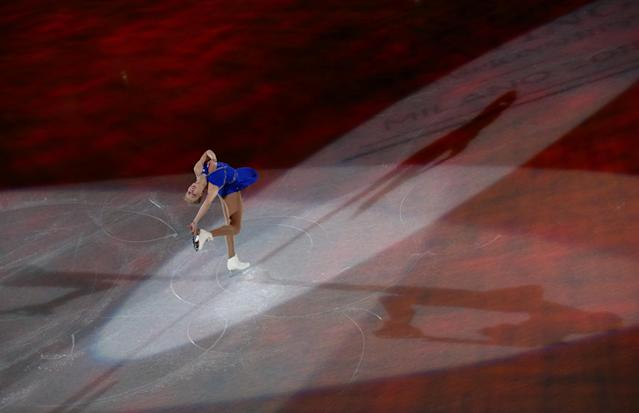Figure Skating - World Figure Skating Championships - The Mediolanum Forum, Milan, Italy - March 25, 2018 Bradie Tennell of the U.S. during the gala REUTERS/Alessandro Bianchi