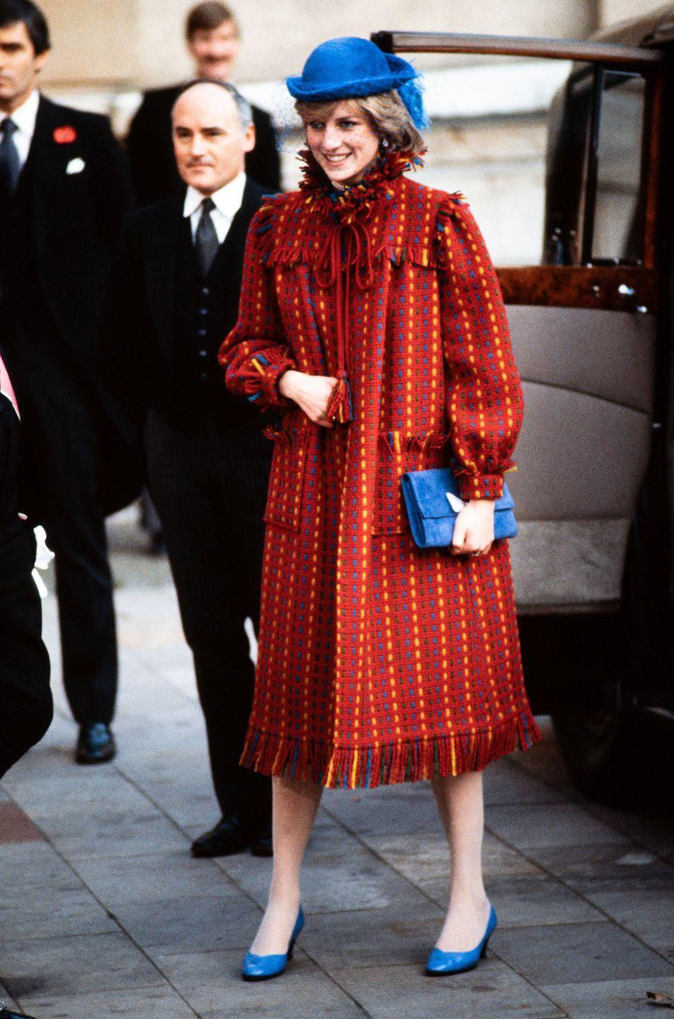 <p>Princess Diana pictured at the Guildhall in London, on the day it's announced she's pregnant with Prince William.</p>