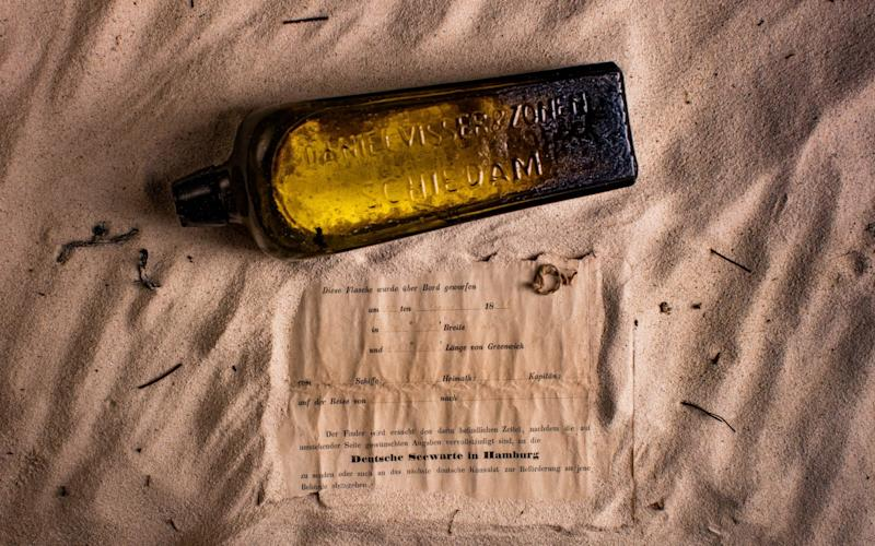 The bottle was thrown off a German ship on June 12 1886, about 600 miles off the coast of Australia - © 2013 KymIllman.com