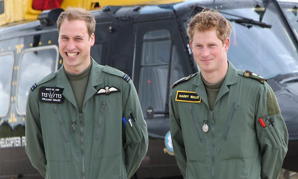 Prince William and Prince Harry used the surname Wales while in the military. Photo: Getty
