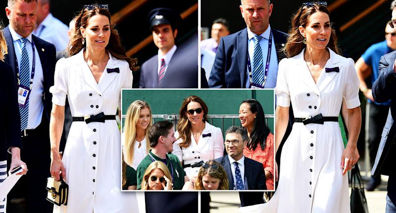 The Duchess of Cambridge attended the second day of Wimbledon. [Photo: PA]