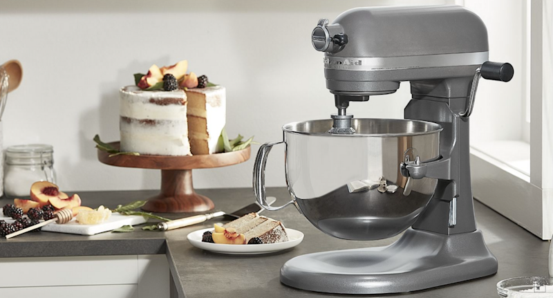 KitchenAid's 6-Qt. Bowl-Lift Stand Mixer with Wire Whip, Flat Beater, and Spiral Dough Hook is on sale for Amazon Prime Day. Image via KitchenAid.