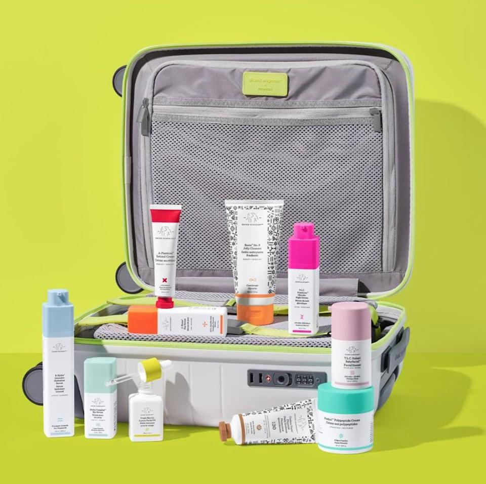 <p>The <span> Drunk Elephant The Trunk 4.0 </span> ($450) is perfect for the ultimate fan of the brand. Not only does it come with an array of its best products, but the custom suitcase is also a total must.</p>