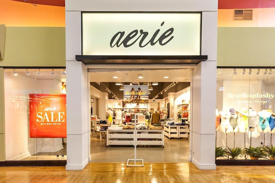Aerie store front at Vaughan Mills in Toronto