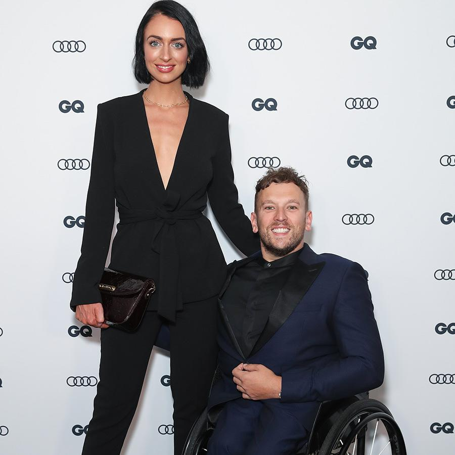 Dylan Alcott and Chantelle Otten, pictured here at the GQ Men of The Year Awards in 2019.