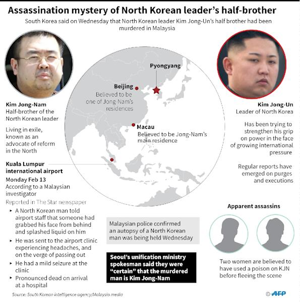 Assassination mystery of North Korean leader's half-brother (AFP Photo/John SAEKI)