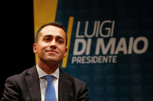 Five Star Movement leader Luigi Di Maio would be the world's youngest leader. (Ciro De Luca / Reuters)