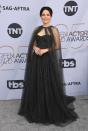 <p>Sophia Bush chose an all black gown for the 2019 Screen Actors Guild Awards. (Photo: Getty Images) </p>