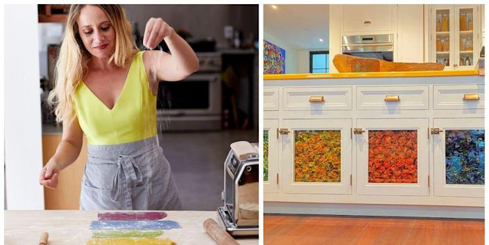 This Artist Flew Nearly 50 Pounds of Colorful Pasta Across ...