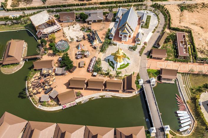 The empty Legend Siam theme park in Pattaya on March 8, 2020. The park, which attracts up to 20,000 mainly Chinese customers a day in the high season, is temporarily closed.