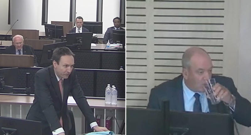 "A supplied screengrab obtained Wednesday, October 14, 2020 of former Wagga Wagga MP Daryl Maguire giving evidence during the NSW Independent Commission Against Corruption inquiring allegations of ""breach of public trust to improperly gain a benefit""."
