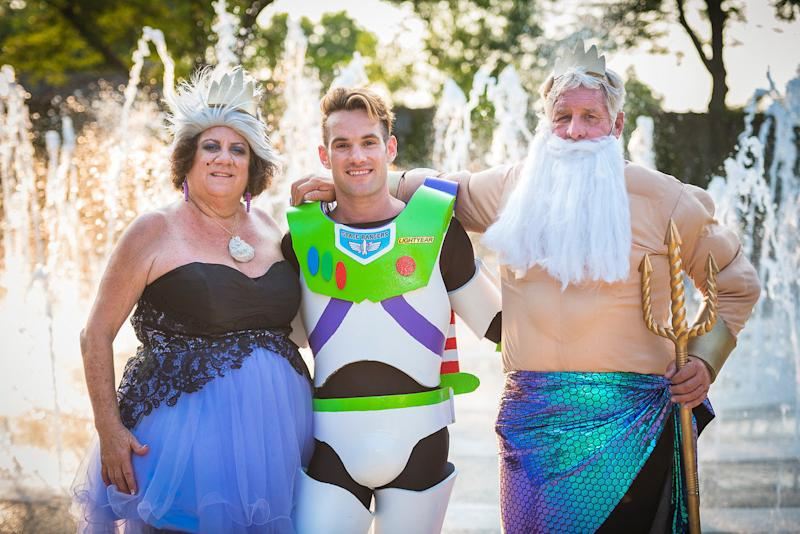 Smith's parents came from under the sea for the big day. (Tiffany Brandt Photography)