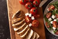 <p>Getting your fill of protein will satisfy your hunger and help you feel more energized throughout the day. Here are some healthy options.</p> <ul> <li>Chicken</li> <li>Turkey</li> <li>Duck breast</li> <li>Lean beef, pork, or lamb</li> </ul>