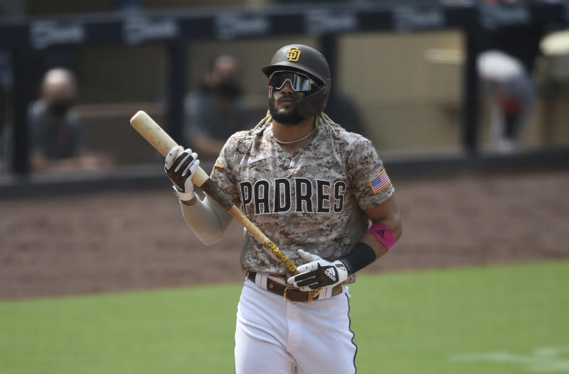 Fernando Tatis Jr. #23 of the San Diego Padres