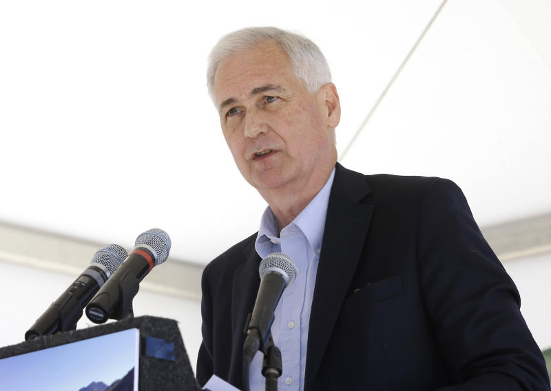 FILE - In this Aug. 24, 2015 file photo, Rep. Tom McClintock, R-Calif. speaks in South Lake Tahoe, Nev. Republicans insisted Monday, Feb. 6, 2017, that they're moving ahead on their effort to void the health care law, even as President Donald Trump's latest remarks conceded that the effort could well stretch into next year. (AP Photo/Rich Pedroncelli, File)