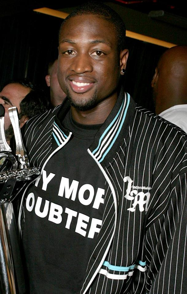 """6'4"""" Dwyane Wade turns heads in any crowd. Eric Charbonneau/<a href=""""http://www.wireimage.com"""" target=""""new"""">WireImage.com</a> - July 11, 2006"""
