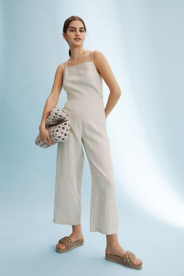 <p>This airy <span>H&amp;M Linen Jumpsuit</span> ($50) is perfect for a hot day.</p>