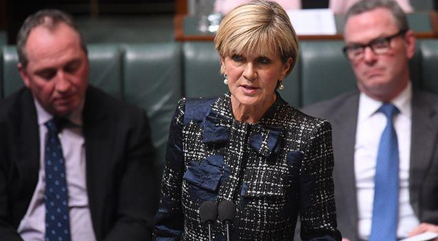 Julie Bishop says there is currently an investigation into the claim. Source: AAP