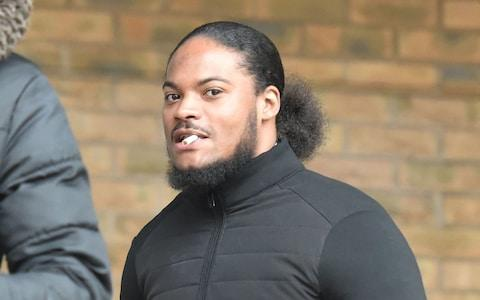 Marlon Wright outside Kingston Crown Court, south west London, where he is on trial alongside Grenadier Guard Kristopher James-Merrill charged with a spate of robberies and attempted robberies across south west London in July 2018. - Credit: PA