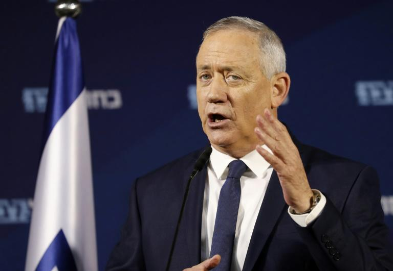 Netanyahu's political rival Benny Gantz has also been invited to Washington (AFP Photo/EMMANUEL DUNAND)
