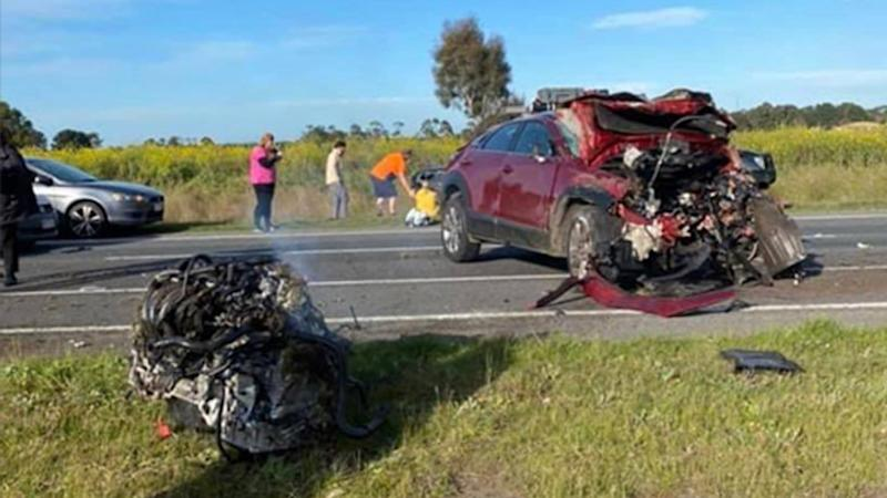 A car accident in Melbourne's south east