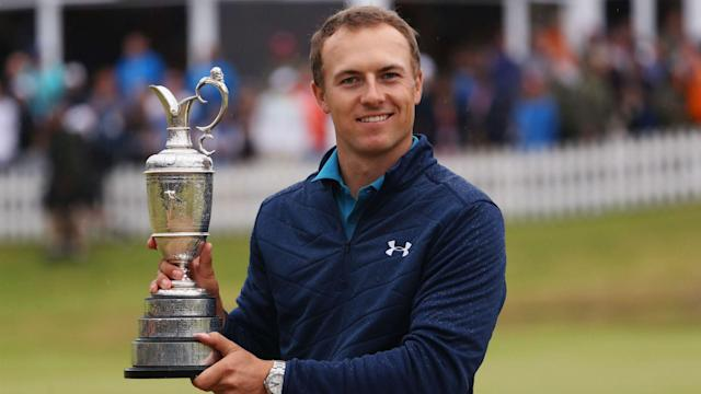 "<a class=""link rapid-noclick-resp"" href=""/pga/players/11107/"" data-ylk=""slk:Jordan Spieth"">Jordan Spieth</a> has three majors in the bag. Can he grab a fourth this week? (AP)"