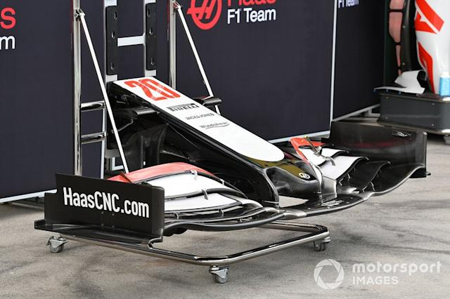 """Haas nose and front wing <span class=""""copyright"""">Mark Sutton / Motorsport Images</span>"""