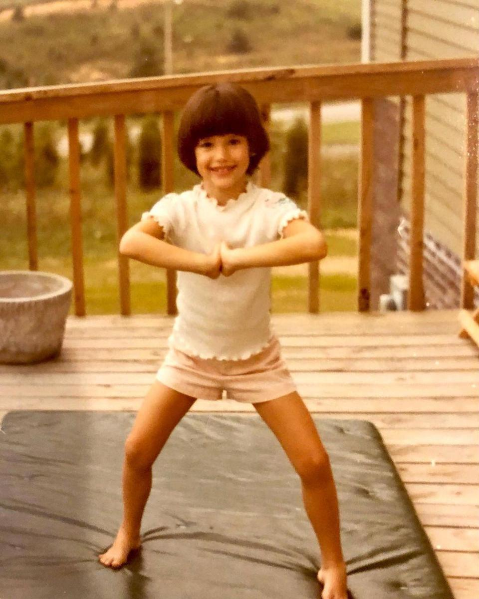 "<p>""A little namaste for your flashback Friday. 🧘🏻‍♀️♥️,"" Garner <a href=""https://www.instagram.com/p/CNuqYxGDbMx/"" rel=""nofollow noopener"" target=""_blank"" data-ylk=""slk:captioned a photo of herself"" class=""link rapid-noclick-resp"">captioned a photo of herself</a> during a childhood yoga session. </p>"