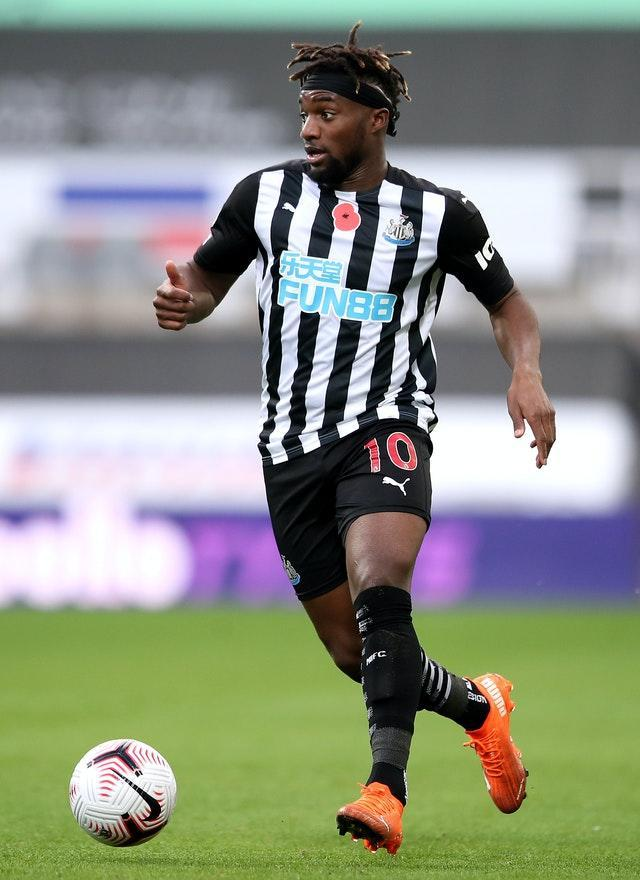 Allan Saint-Maximin is still missing as he continues his recovery from coronavirus