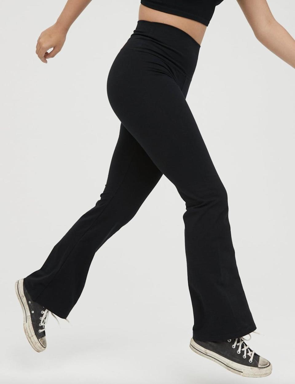 <p>These <span>Aerie Offline OG High Waisted Flare Leggings</span> ($22, originally $30) are up for your next bike ride, grocery run or park hang.</p>