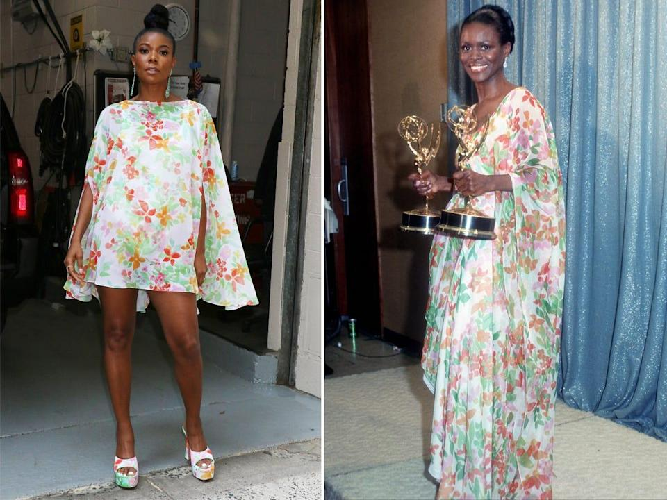 A side-by-side of Gabrielle Union and Cicely Tyson.