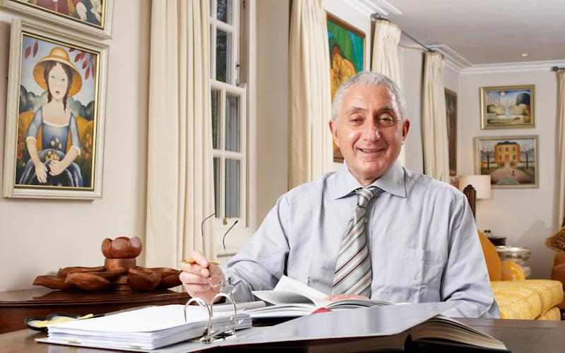 Jonathan Goldberg QC sitting at his desk - Credit: Caroline Mardon/Caroline Mardon