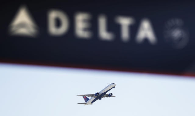 A Delta Air Lines flight takes off from Hartsfield-Jackson International Airport in Atlanta. (AP Photo/David Goldman, File)