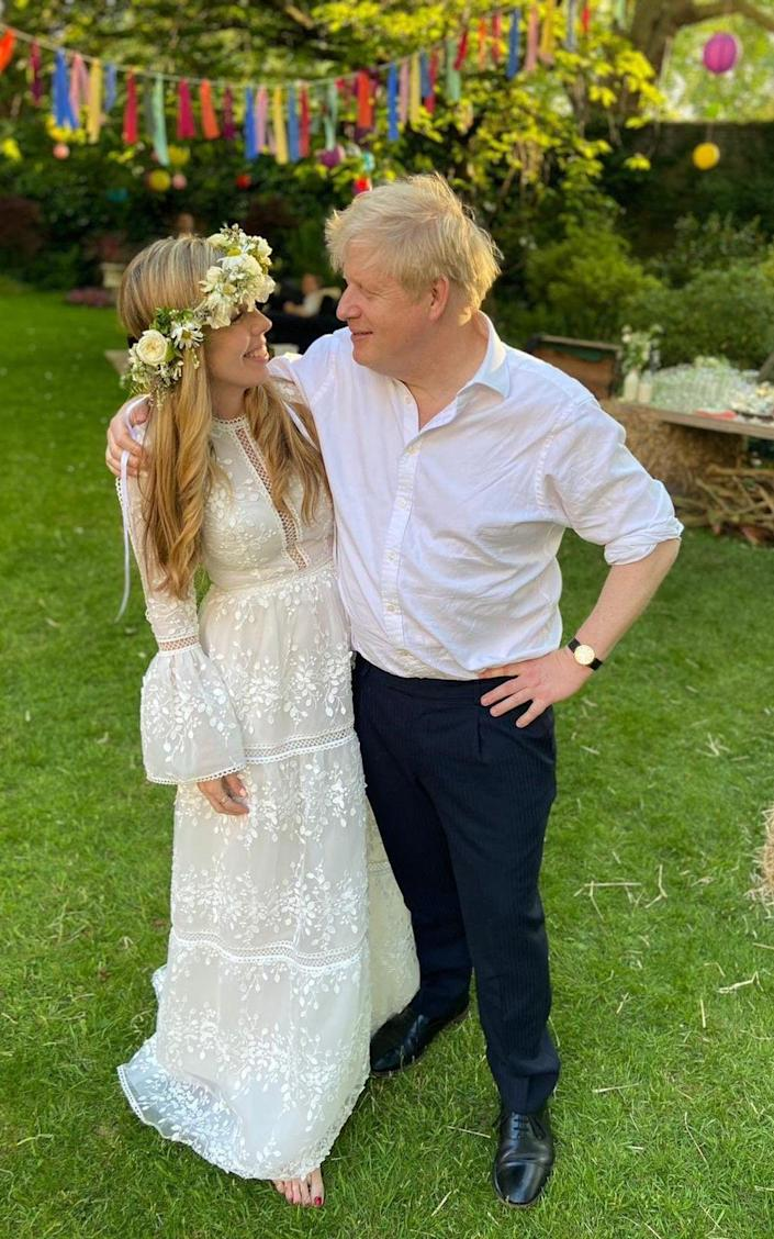 This photograph, taken by the MP James Cleverly, captures the relaxed mood of the garden party celebration