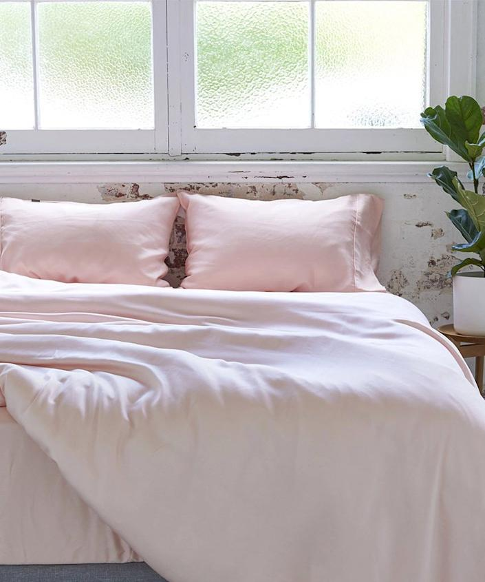"""<strong><h3><a href=""""https://www.ettitude.com/collections/bedding/products/bamboo-lyocell-sheet-set"""" rel=""""nofollow noopener"""" target=""""_blank"""" data-ylk=""""slk:Sustainable Silky Sheets"""" class=""""link rapid-noclick-resp"""">Sustainable Silky Sheets</a></h3></strong> <br>Your S.O. will thank you after taking a shared snooze snuggled up beneath these ultra-luxurious (and eco-friendly) 100% bamboo sheets that feel like silk. <br><br><strong>Ettitude</strong> Bamboo Lyocell Sheet Set, $, available at <a href=""""https://www.ettitude.com/collections/bamboo-sheet-sets/products/bamboo-lyocell-sheet-set"""" rel=""""nofollow noopener"""" target=""""_blank"""" data-ylk=""""slk:Ettitude"""" class=""""link rapid-noclick-resp"""">Ettitude</a><br>"""