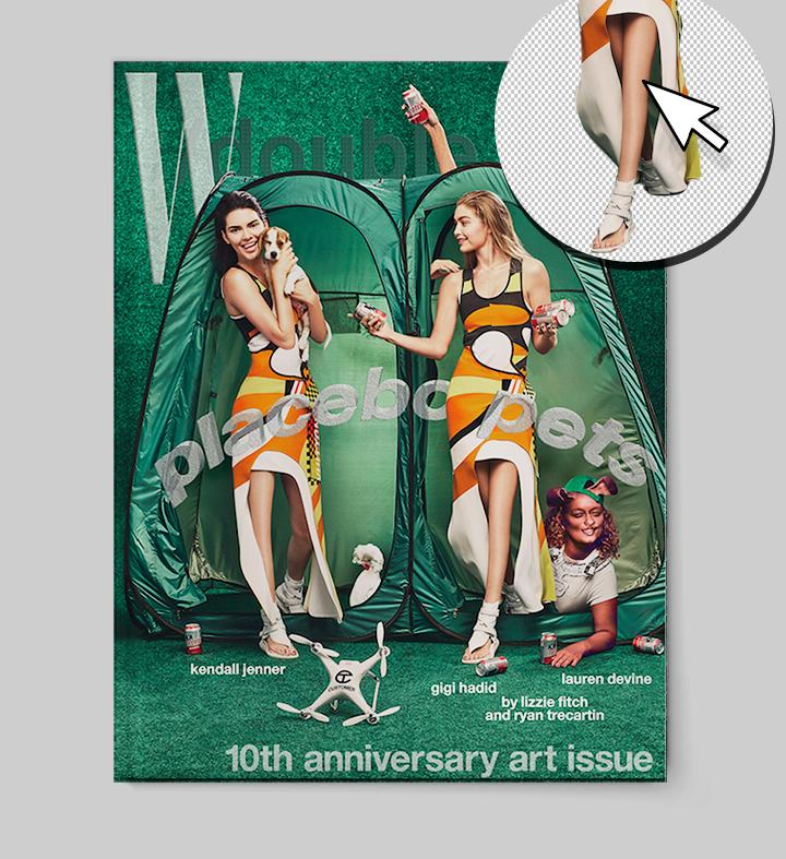 Fans believe Kendall Jenner and Gigi Hadid have been photoshopped on the cover of W magazine. (Photo: Jason Kibbler)